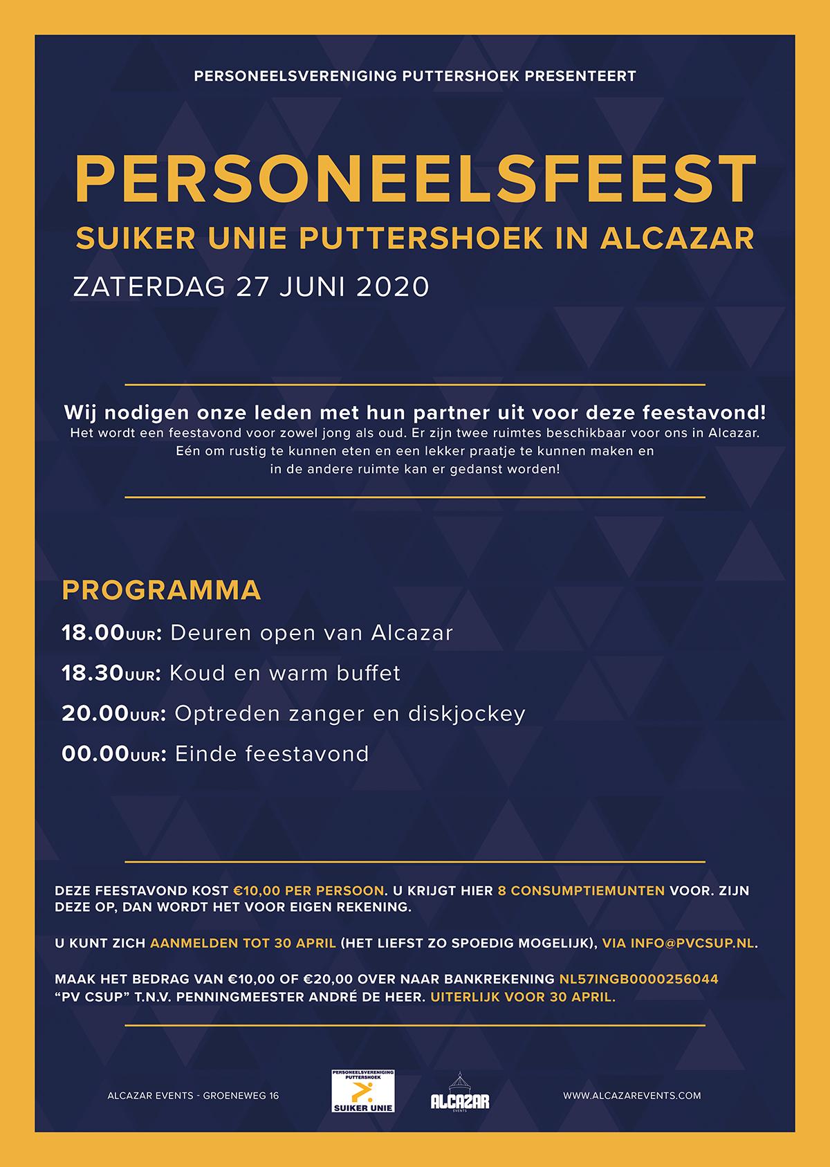 personeelsfeest poster ontwerp