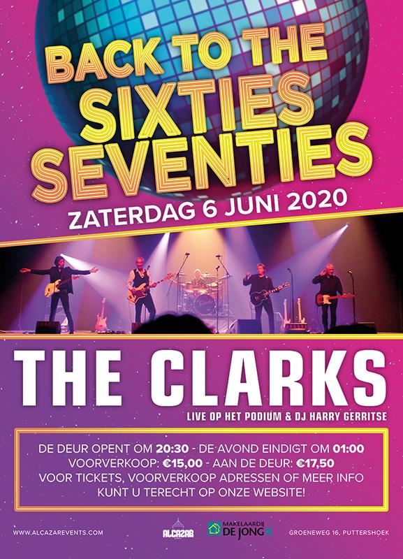 the clarks poster ontwerp evenement alcazar